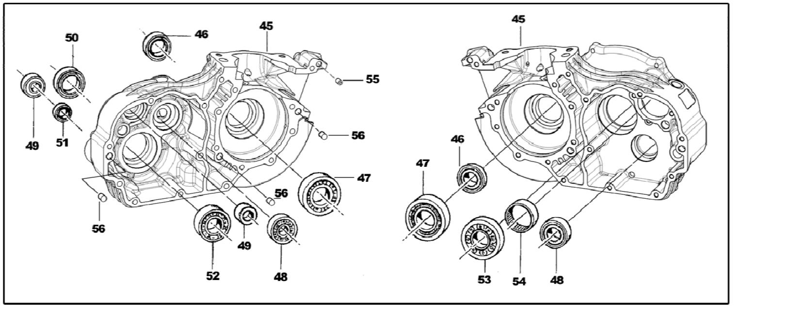 Basamento Motore KZ10