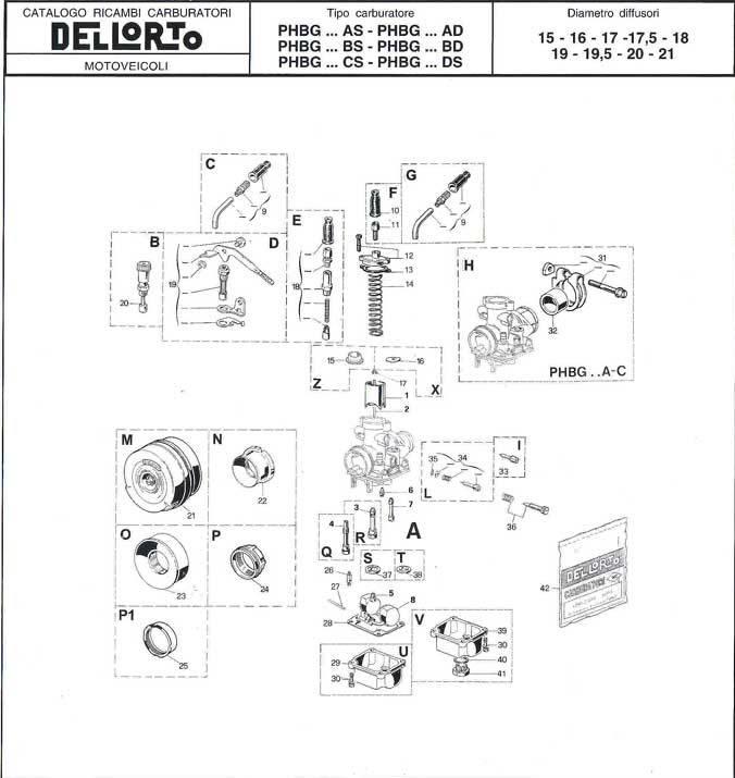 Ricambi Carburatore PHBG 18 BS