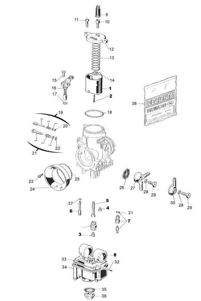 Ricambi Carburatore PHBE 30 HS