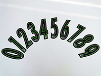 Kart Sticker Numbers